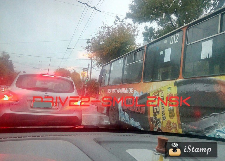 Троллейбусное движение прекратилось в Смоленске
