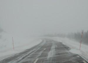 снег дорога