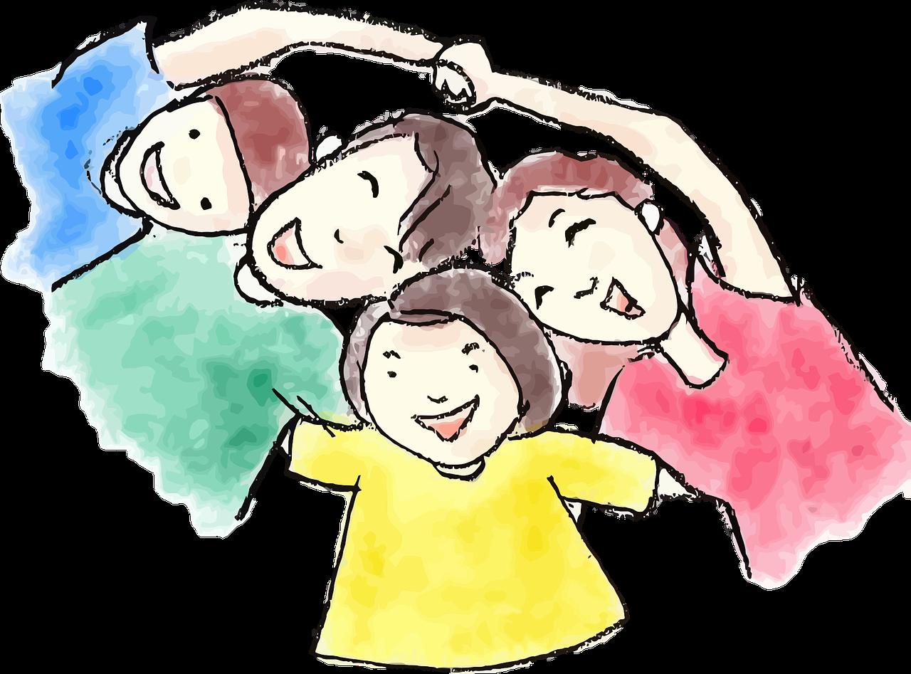 Анимации, картинки о родителях и детях нарисованные