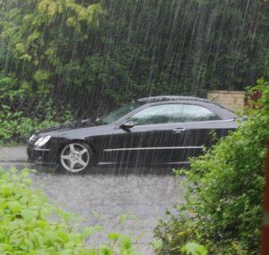 авто под дождем
