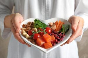 полезные продукты на тарелке